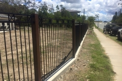 Aluminium Wood Grain Posts and Panels