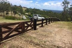 Large Hardwood Post and Rail