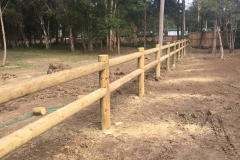 Round Pine and Post Rail