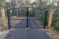 Arched top aluminium gate - LA-S23
