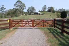 Custom made double farm gates - LA-W31