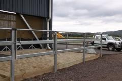 Steel rectangular post & rail fencing - LA-S04