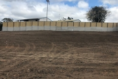Commercial Paling Fence on Retaining Wall