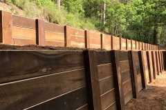 Hardwood Retaining Wall