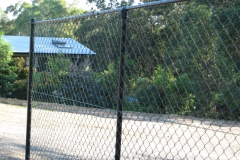 Black PVC chain mesh fencing - CI-S06