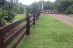 Post & Rail Fence with Feature Post - FF03