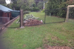 Raked powder coated gate - LA-S33
