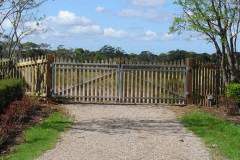 Steel framed picket gates - LA-W20